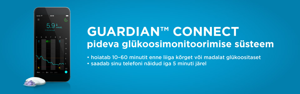 pidev glükoosimontooring Guardian Connect